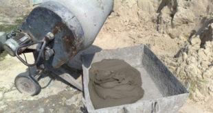 Приготовление бетонного раствора в цифрах