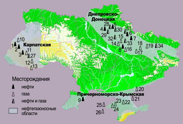 Угольные бассейны РФ и Украины