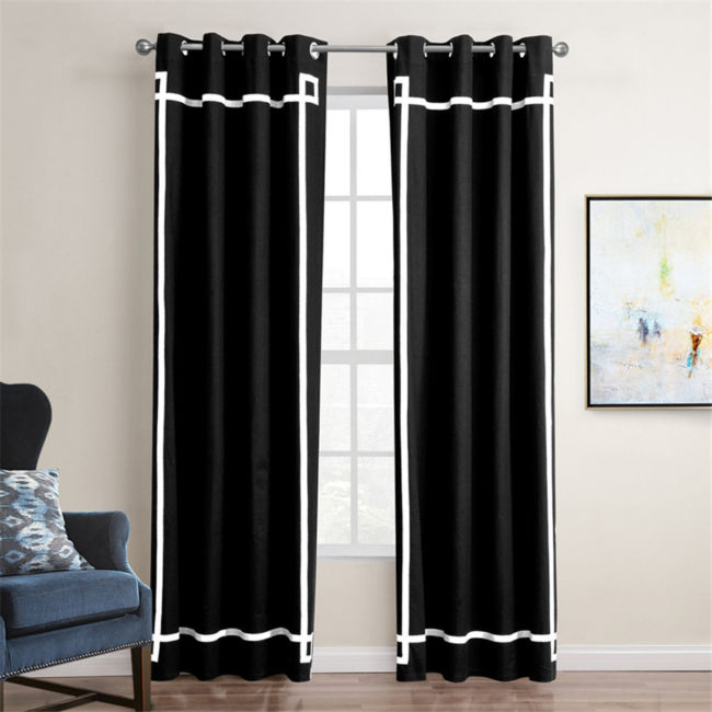 1-piece-Modern-blackout-fabric-Grey-font-b-Black-b-font-Curtains-for-Living-Room-Window