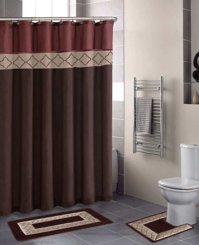 Brown-Shower-Curtain-Sets