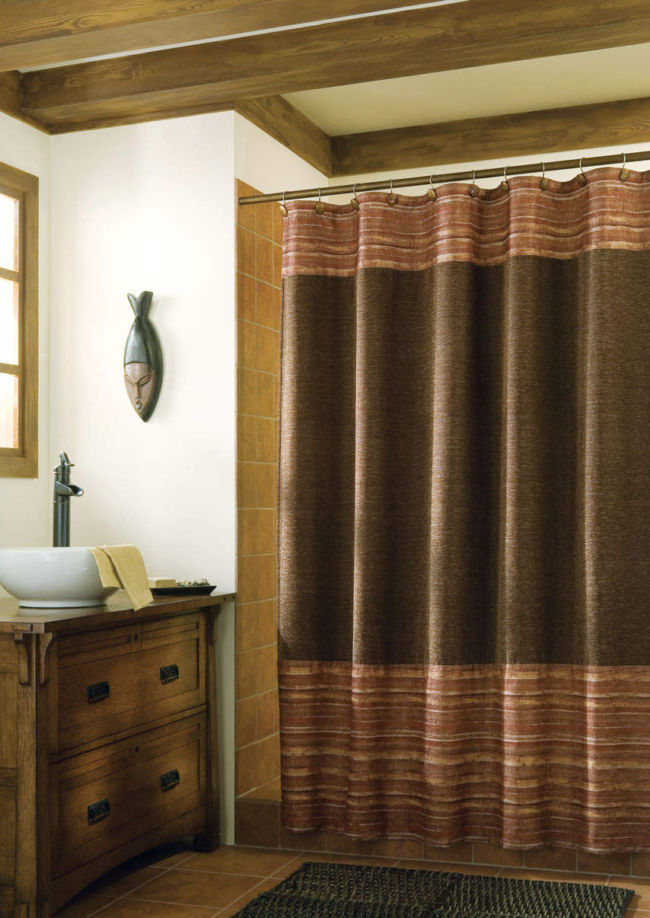 Brown-Shower-Curtains