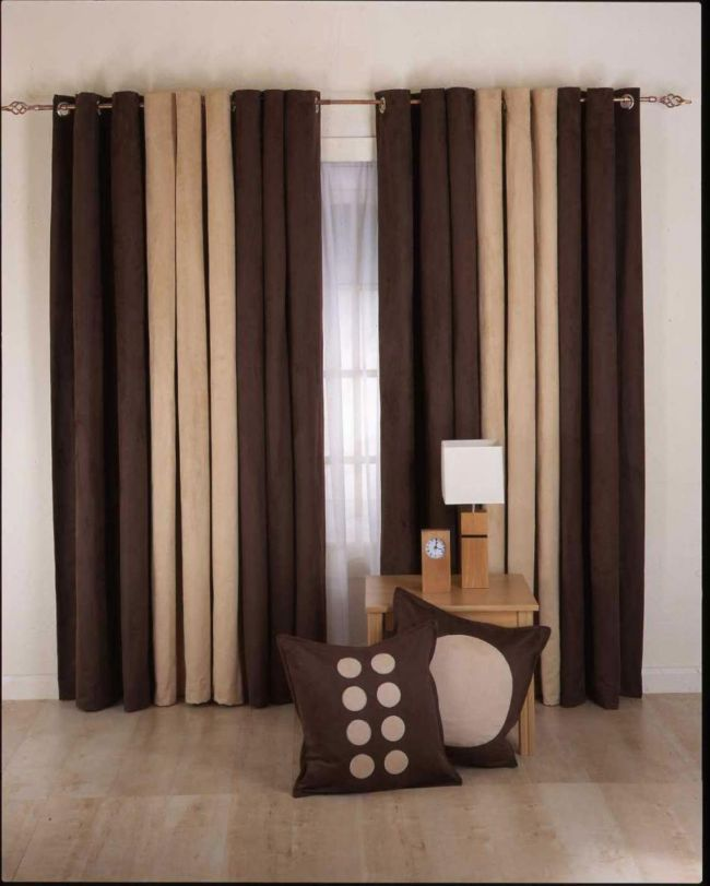 Curtain-Designs-for-Living-Room-brown-cream-color