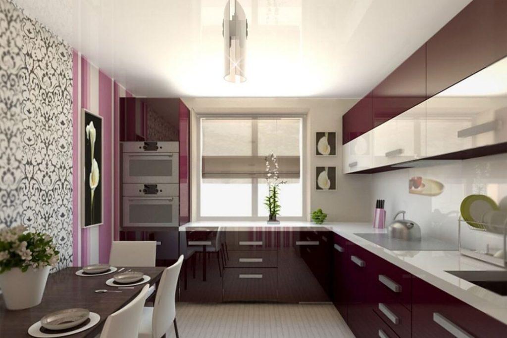 Интерьер в кухне 9 кв