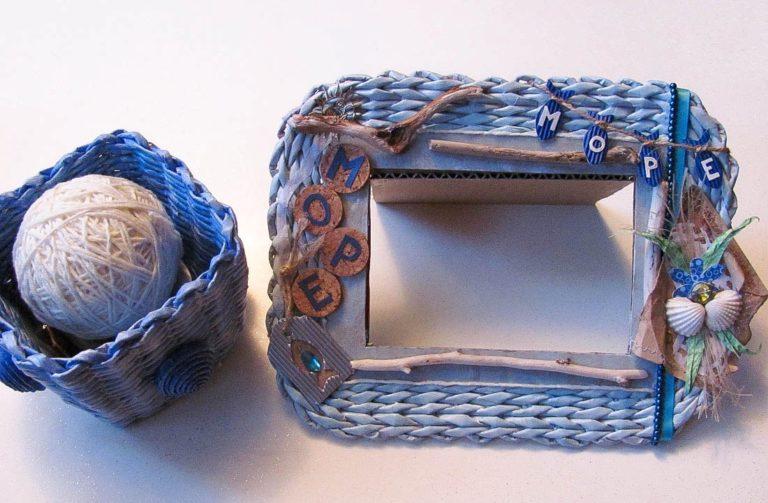 Плетение из газетных трубочек рамки для фото мастер класс
