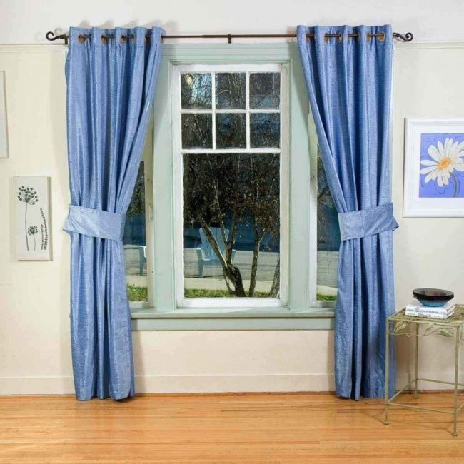 archaic-window-treatments-for-french-doors-with-blue-sheer-curtains-915x915