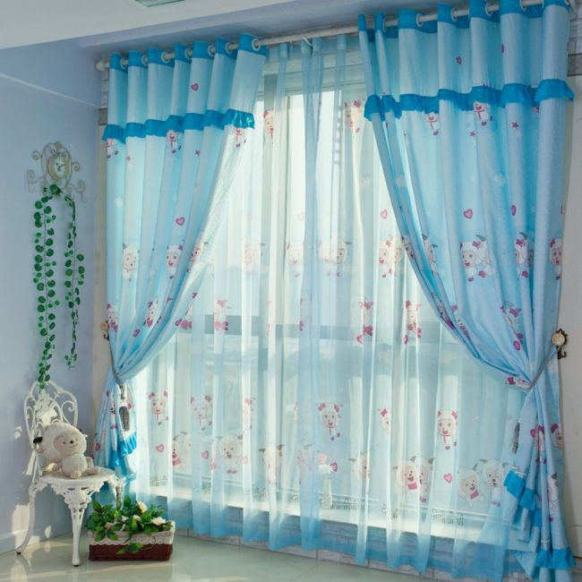 beautiful-baby-blue-curtain-sheep-motif-white-painted-room-with-a-mini-chair-and-dolls-inspiring-baby-nursery-curtains-design-ideas