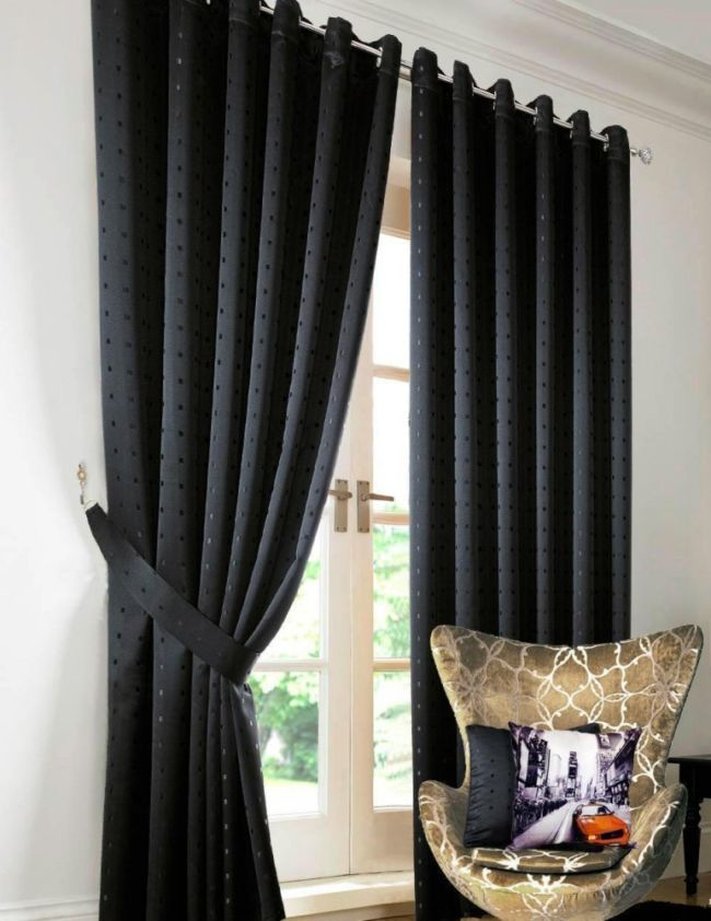black-curtains-bedroomheavy-jacquard-black-eyelet-ring-top-lined-curtain---curtains-cleqxduk