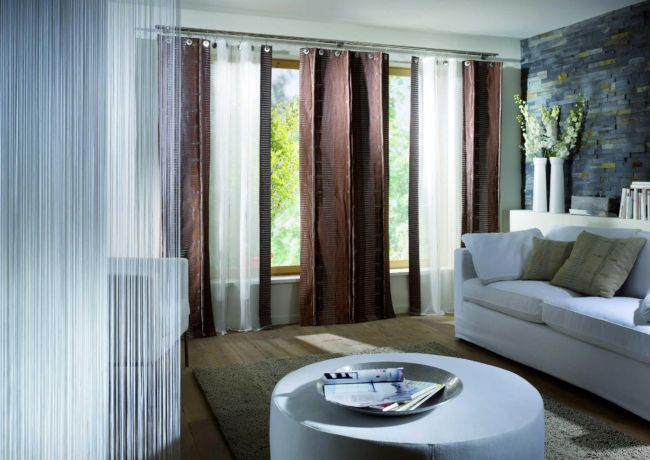 chocolate-brown-living-room-curtains