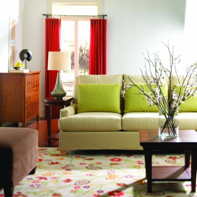interior-sweet-green-sofa-perfect-red-curtain-and-floral-carpet-in-cozy-living-room-interior-design-picturesque-color-ideas-for-beautiful-home-interior-decorating