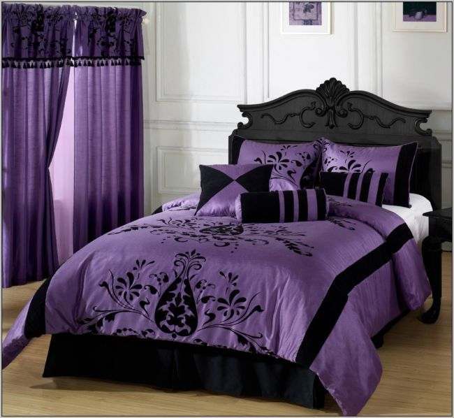 purple-curtains-and-bedding-sets