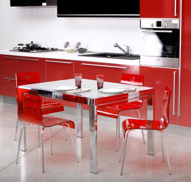removable-creative-designs-modern-kitchen-design-ideas-with-ikea-cool-stylish-mesmerizing-red-glass-acrylic-dining-chairs-and-square-stainless-table-cabinetry-glamorous_beautiful-modern-kitchen-room_k