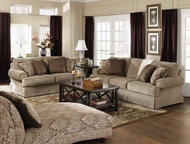 traditional living room decorating ideas with brown curtains with arch lamp and the frame decoration throughout Traditional Home Décor How to Get Traditional Home Décor for Your House - Online Meeting Rooms