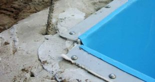 Строительство сборного бетонного бассейна с подвижной чашей