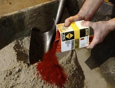 Цветные бетонные смеси