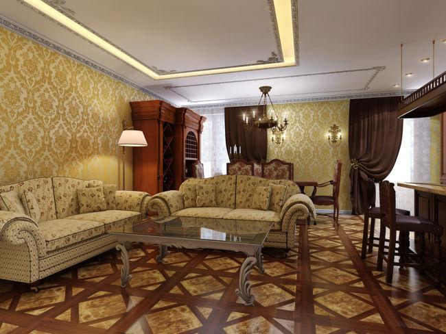 Дизайн-квартиры-в-английском-стиле