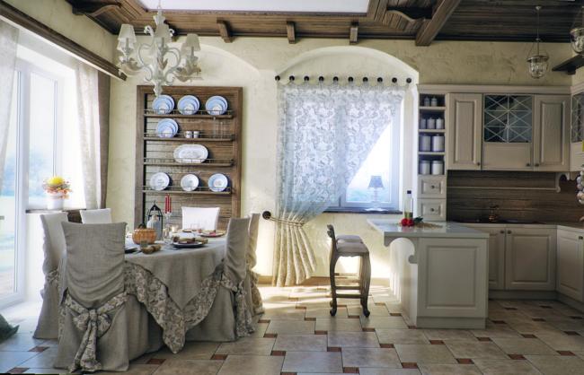 Идеальные-шторы-для-большой-кухни