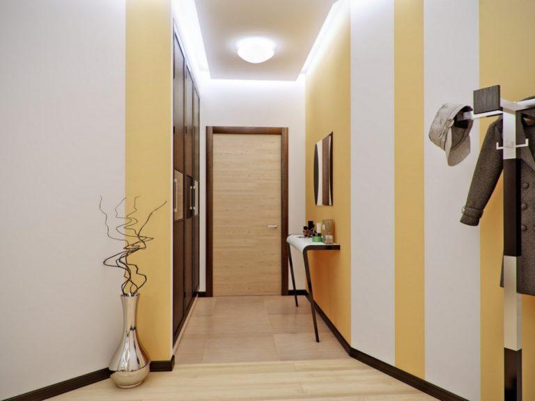 Дизайн стен в прихожей в квартире