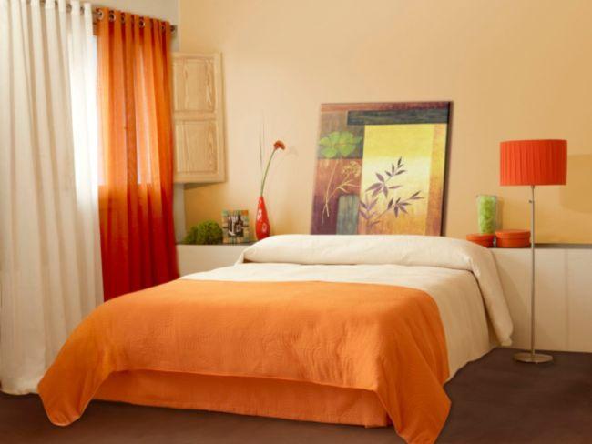 Оранжевые шторы - фото самых модных дизайнерских идей сочетания