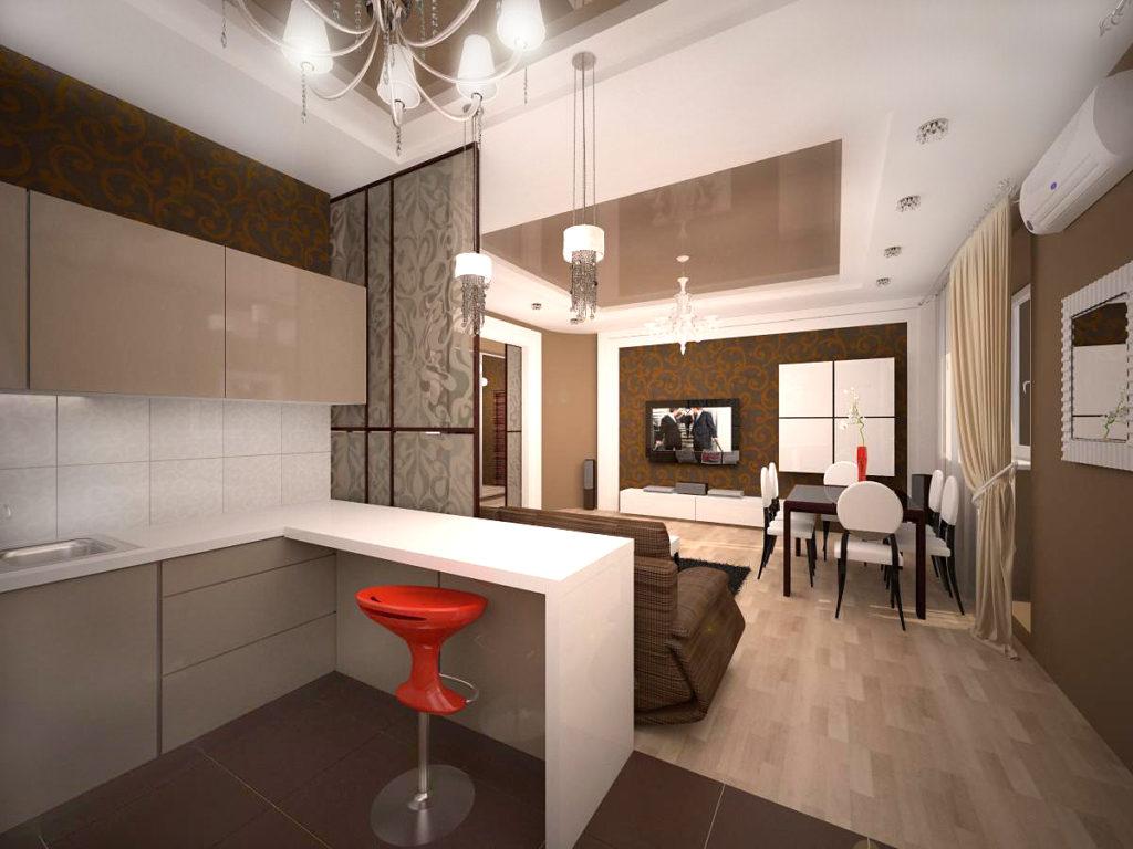 Дизайны кухни студии