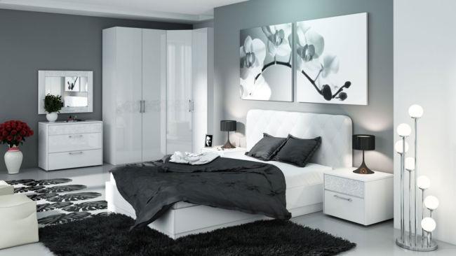 комната черно-белая дизайн фото