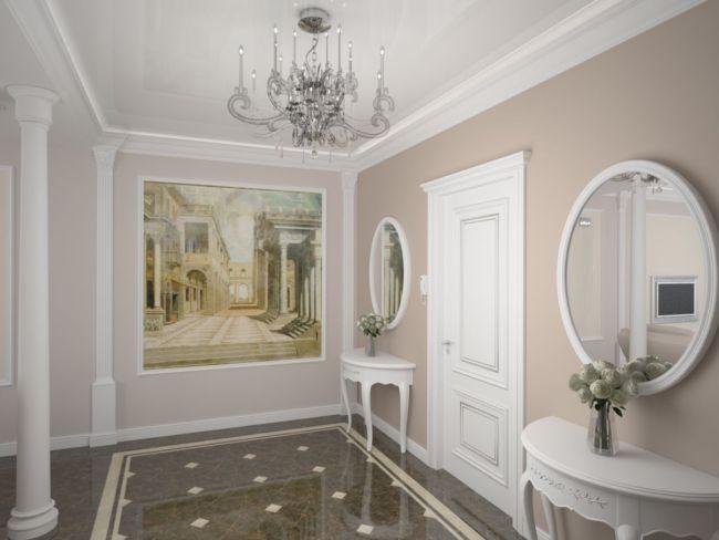 Foto-malenkoy-prihozhey-v-klassicheskom-stile
